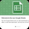 Sheets update