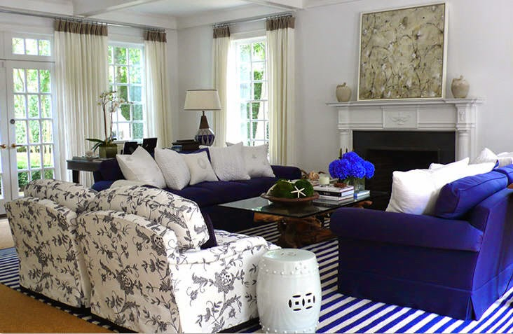 Velour home hampton style for Blue themed living room ideas