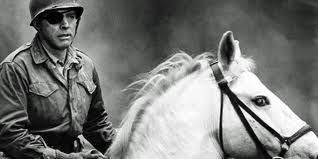 Burt Lancaster astride his white charger in Castle Keep 1969 movieloversreviews.blogspot.com