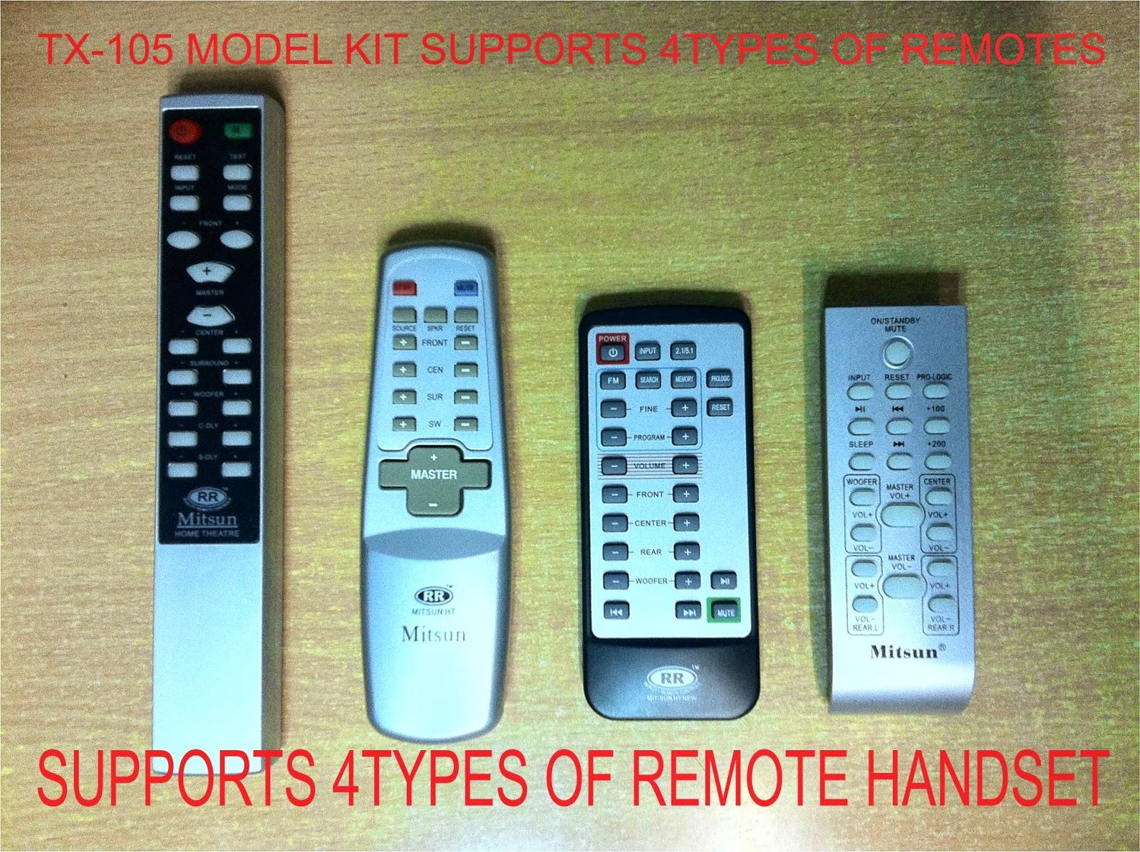 audio remote kit: 5.1 channel audio remote kit