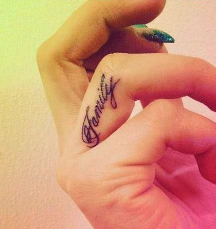 ♥  ♫ ♥ finger tattoo for fashion girls ♥  ♫  ♥