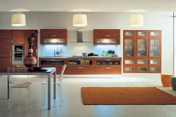 Modern kitchen cabinet designs an interior design - Cocina de madera moderna ...