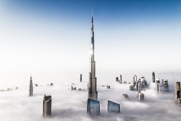 burj khalifa diatas awan