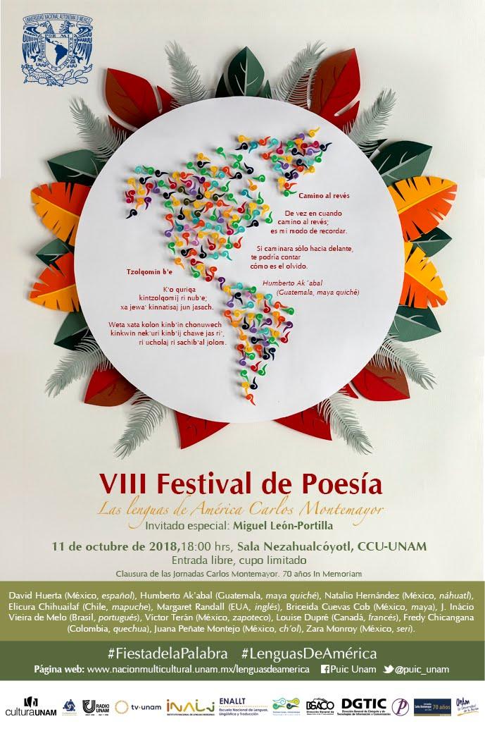 Festival de Poesía Lenguas de América. ASISTE
