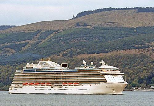 A Royal Princess Arrives At Greenock Clydeside Imagescom - Cruise ships at greenock