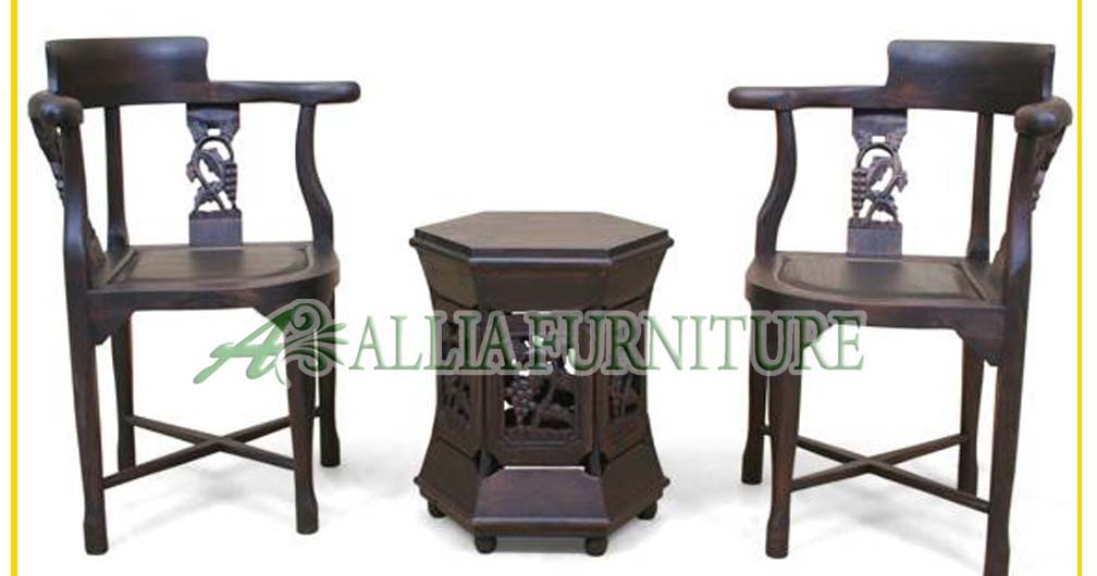 Kursi Teras Tamu Ukiran Anggur Allia Furniture