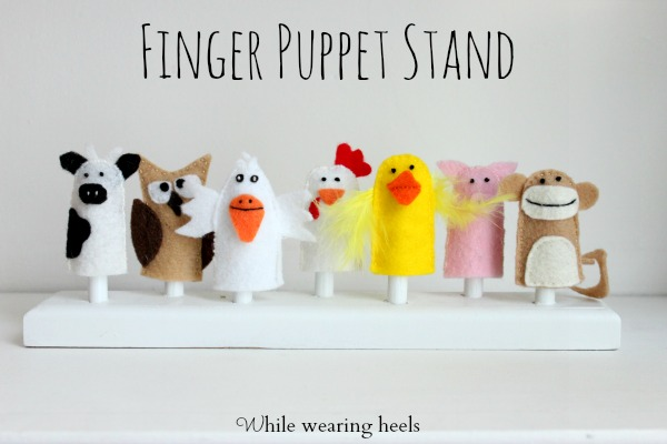 While Wearing Heels Finger Puppet Stand Custom Puppet Display Stand