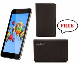 Flat 33% Off on Digiflip Pro ET701 Tablet(8 GB, 3G via Dongle, WiFi) + FREE Bookcase Cover worth Rs.699 + FREE 8800mAh Power Bank, All for Rs.3999 Only @ Flipkart