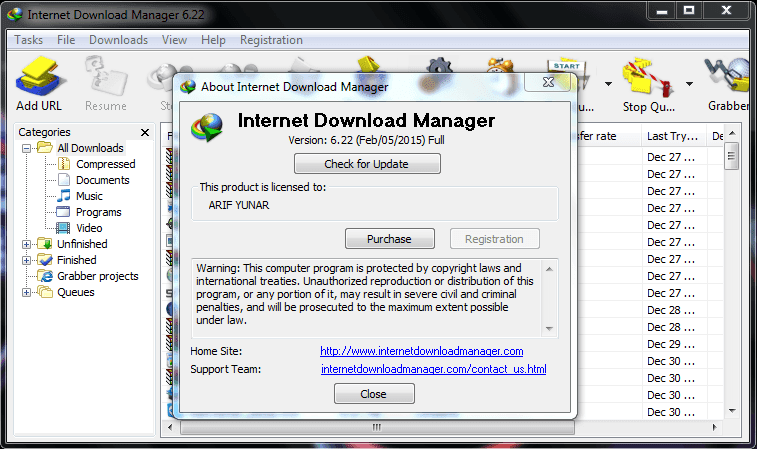 Download IDM 6.22 Terbaru 2015 Full Version