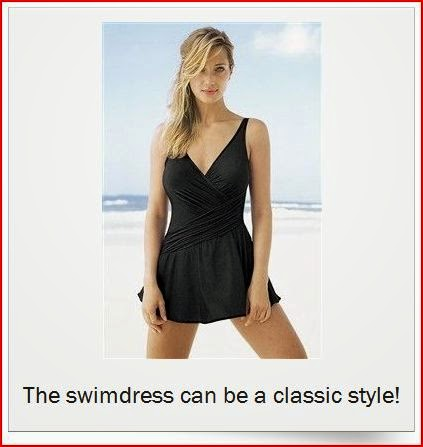 classic black swimdress