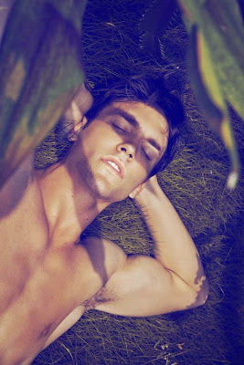 Man Hairy Armpits in the Grass