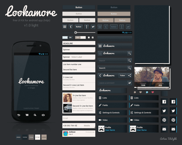 Lookamore UI Kit (Android) V 1.0