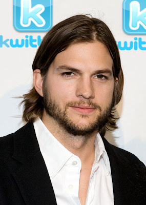 Ashton Kutcher after announcing the launch of Kwitter, his own version of Twitter