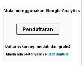 Cara mendapatkan kode Google Anlytic