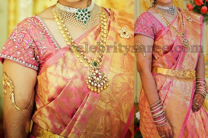 Zari Border Blouse Designs 89