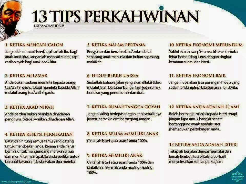 13 Tips Perkahwinan
