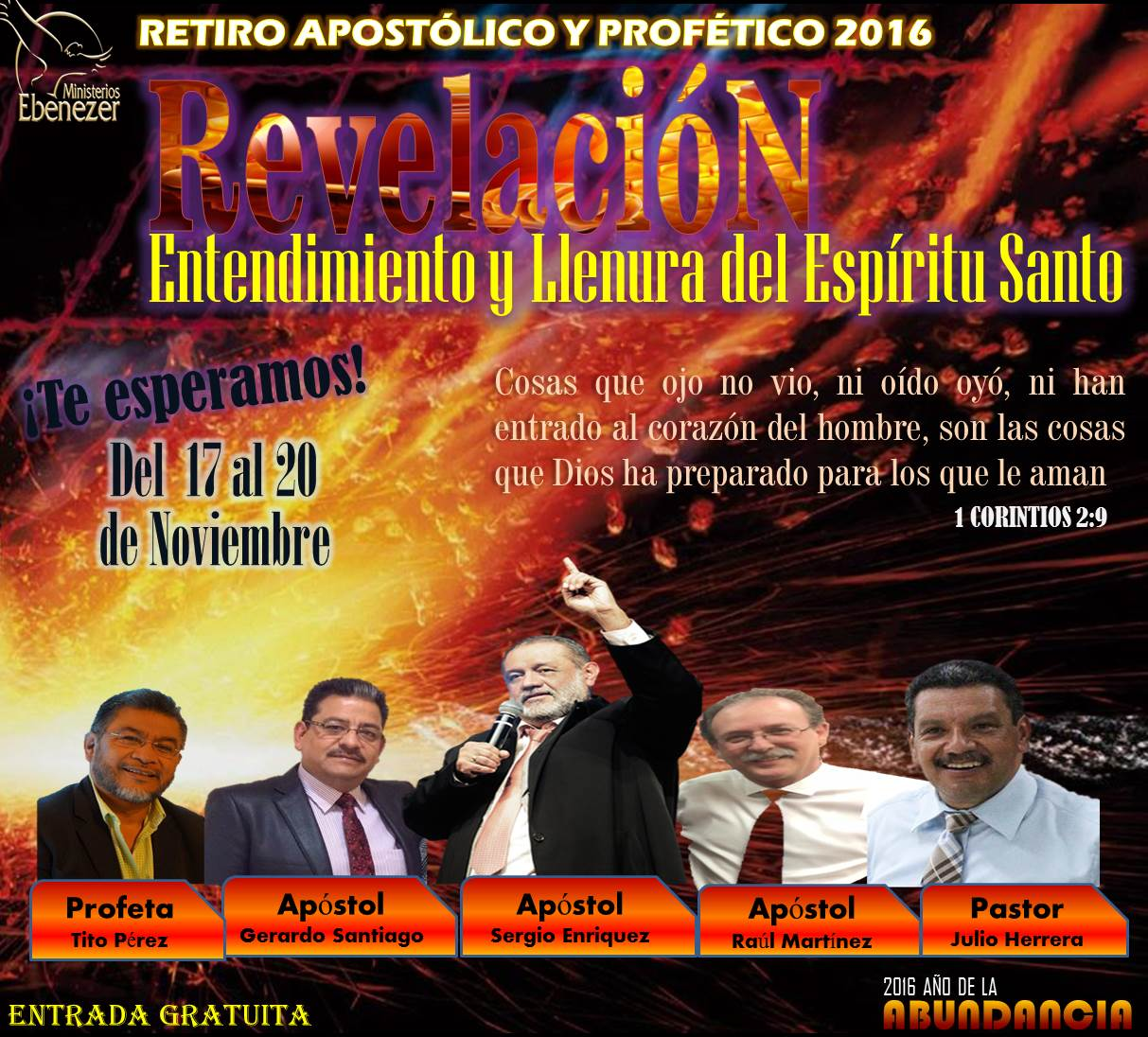 Retiro Apostólico y Profético 2016