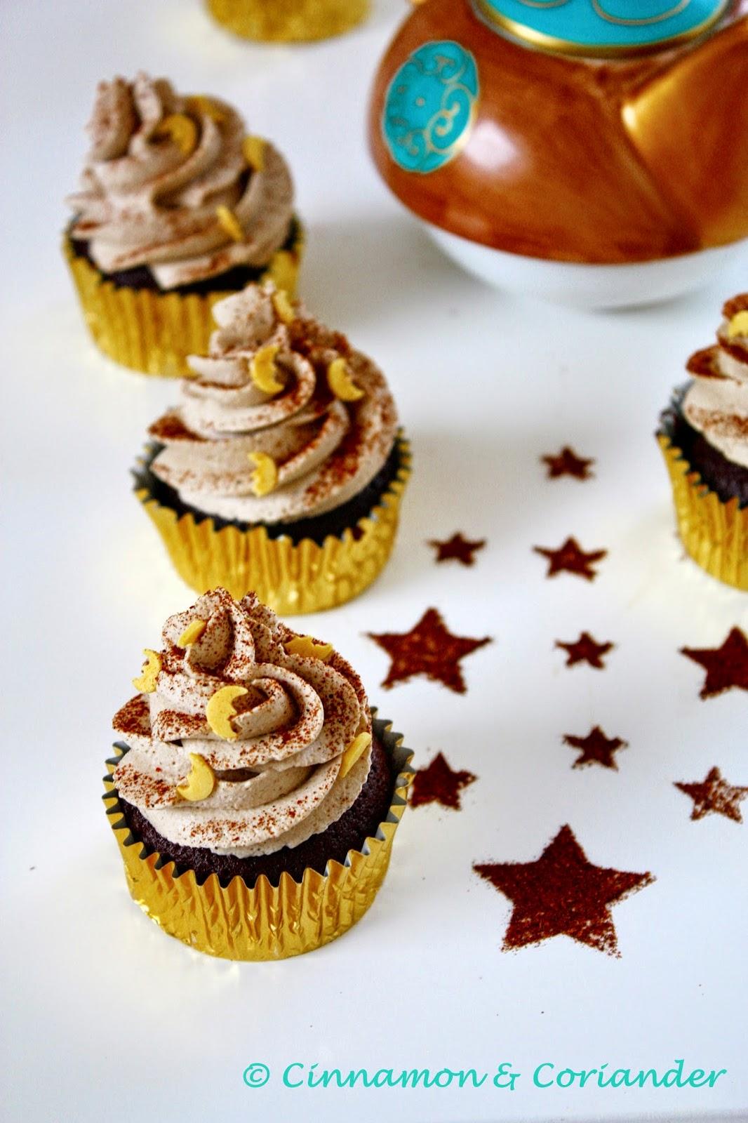 Arabische Kaffee Cupcakes Frischkäsefrosting