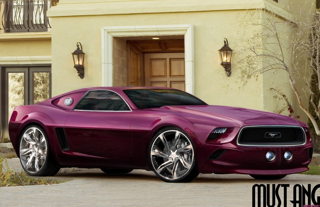 oddcars concept car ford mustang purple 2014. Black Bedroom Furniture Sets. Home Design Ideas