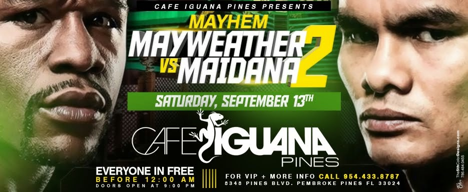 Watch the fight at Cafe Iguana Pines!