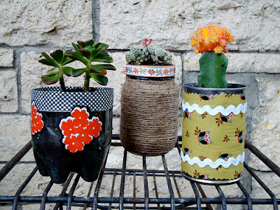 Mel 39 s mouthful on mothering january 2012 for Recycled flower pots