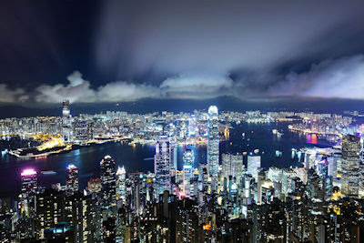 Ciudad de Hong Kong vista por la noche - Night view cities of the world