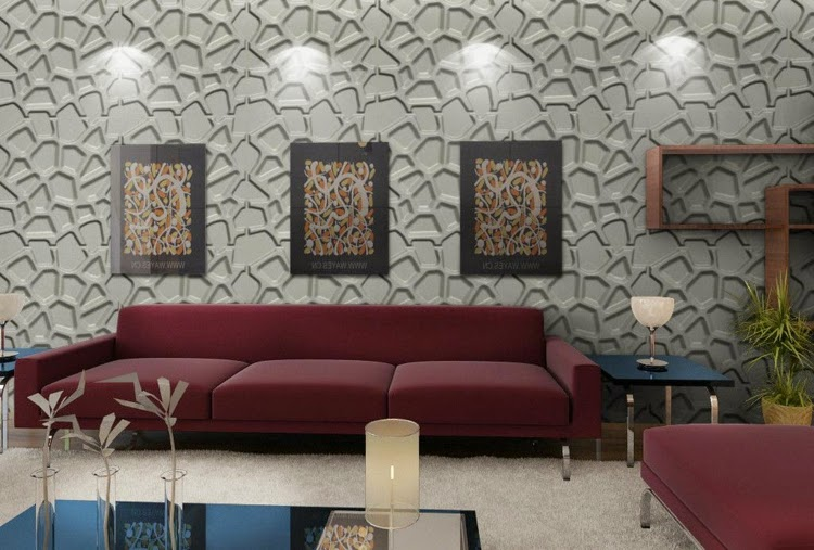 Decorative 3D wall panels: 3D wall panels with asymmetrical shapes