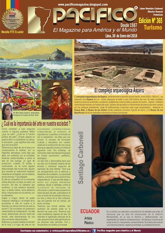 Revista Pacífico Nº 365 Turismo
