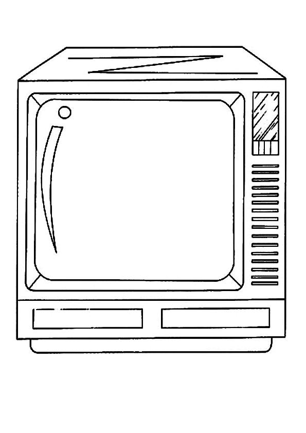 Dibujo de tv para colorear - Imagui