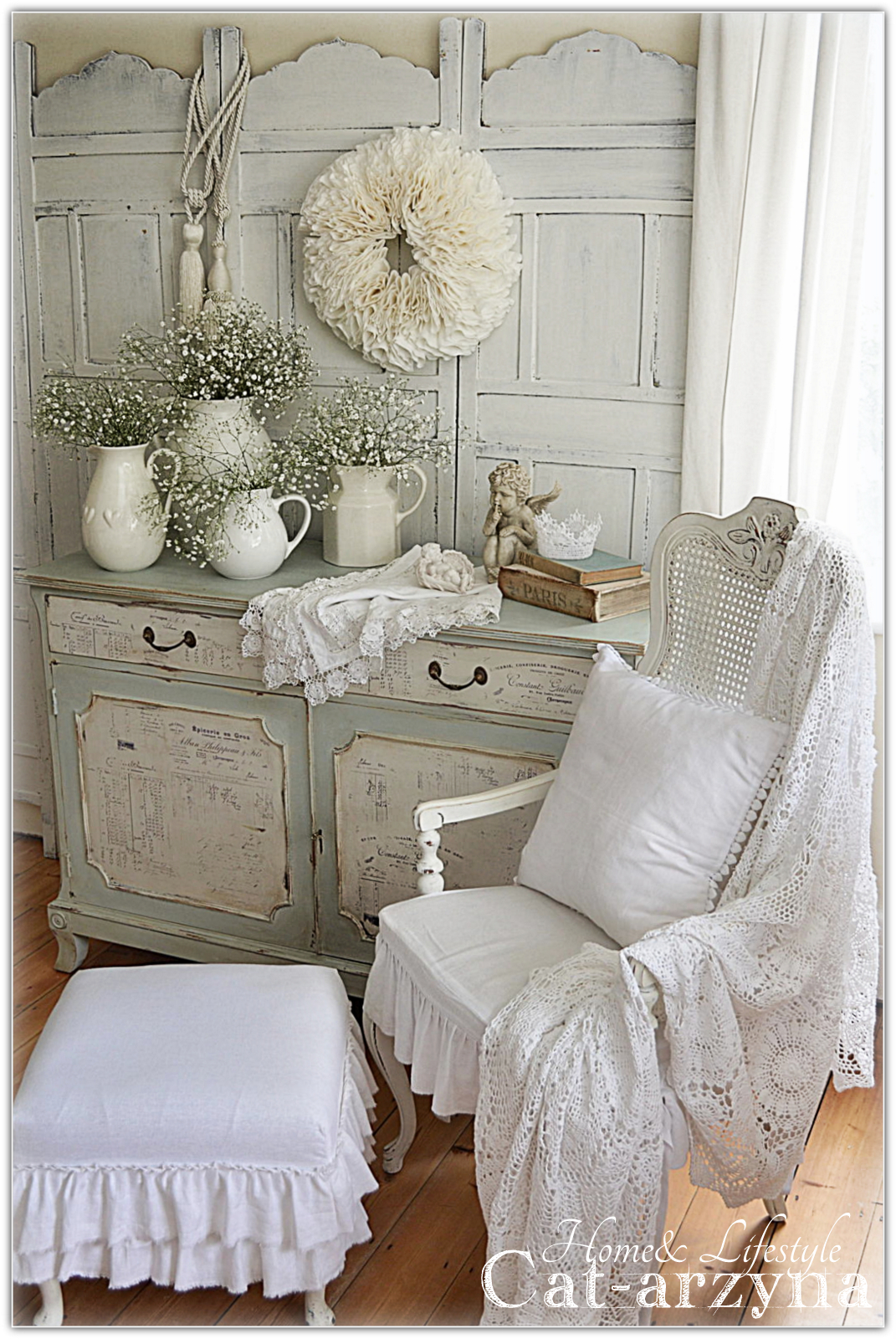 cat arzyna szafka shabby chic. Black Bedroom Furniture Sets. Home Design Ideas