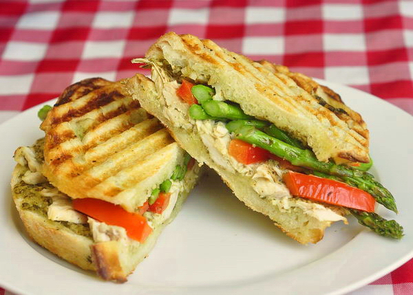 Grilled Chicken and Asparagus Panini