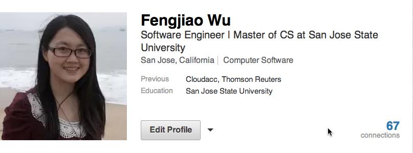 Love Computer Science Fengjiao S Linkedin Summary
