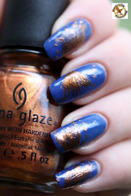 China Glaze Harvest Moon accents
