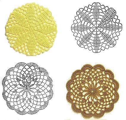 Uncinetto e crochet raccolta di piastrelle rotonde all - Piastrelle uncinetto pinterest ...