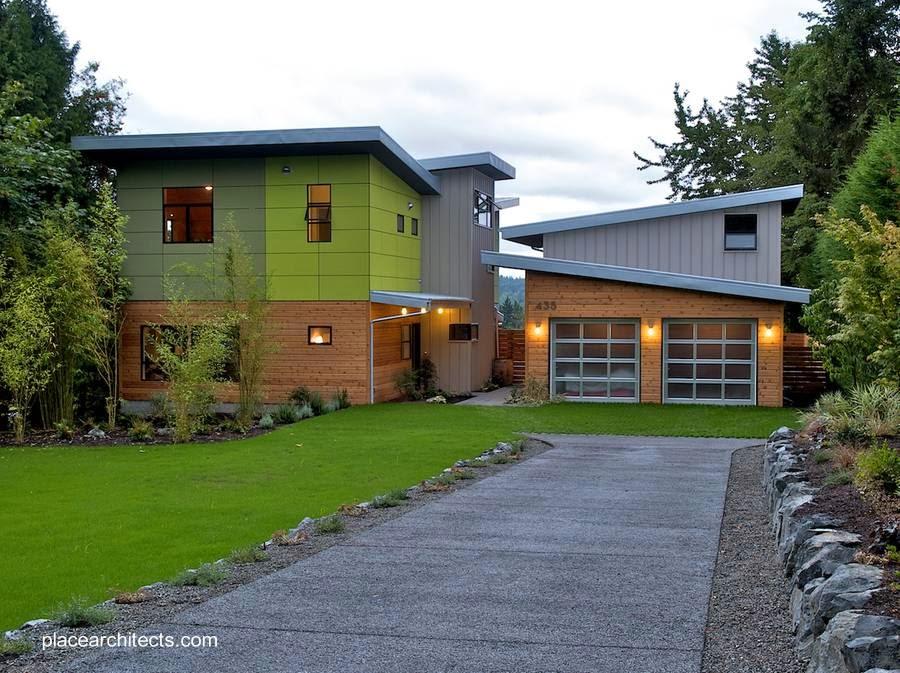 Casa residencial prefabricada de madera en Canadá