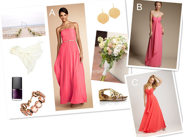 beach wedding bridesmaid match ideas