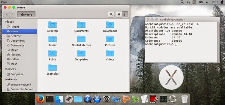 MacBuntu OS Y Pack for Ubuntu 14.10 Utopic/14.04 Trusty