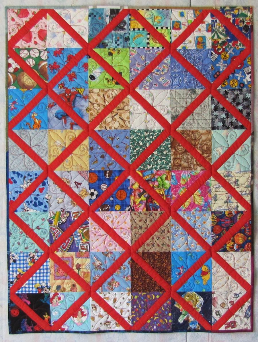 Quilt Patterns Using 6 Strips : Alamosa Quilter: Lattice Quilt Tutorial