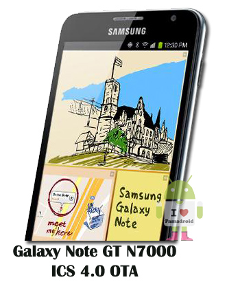 Galaxy Note GT N7000 Gets ICS 4.0 OTA with Touchwiz [Upgrade