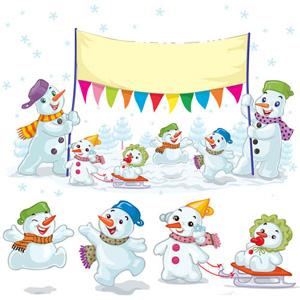 Snowman Christmas Vector, Snowman, Christmas, Vector,christmas vector