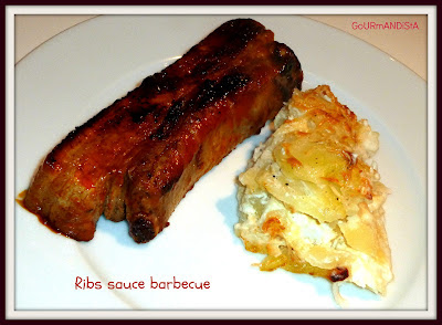 image Ribs sauce barbecue