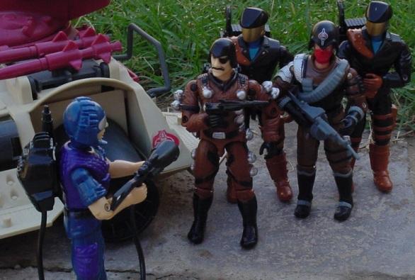 1992 Headhunter, DEF, Funskool Major Bludd, Skull Squad Trooper, Convention Exclusive, 1985 Tele Viper, 1990 Rage