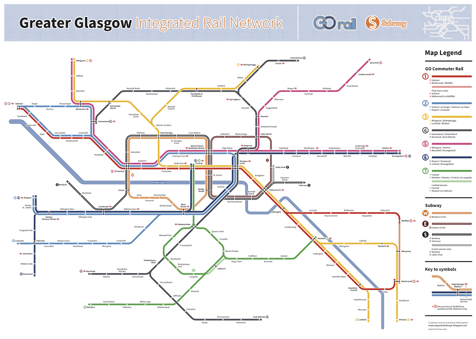 Angus Doyle Design Glasgow Transport Map