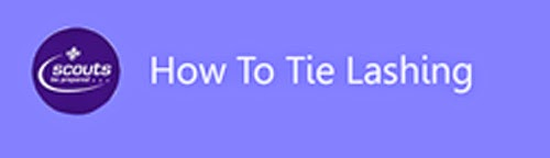 How to tie lashing