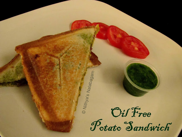 Oil less Potato Sandwich