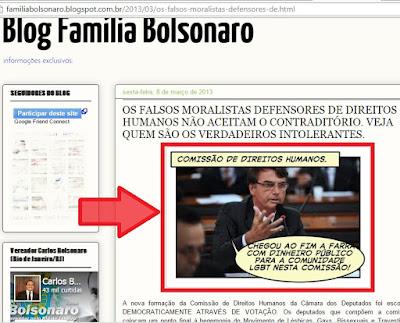 Bolsonaro na comissão de direitos humanos