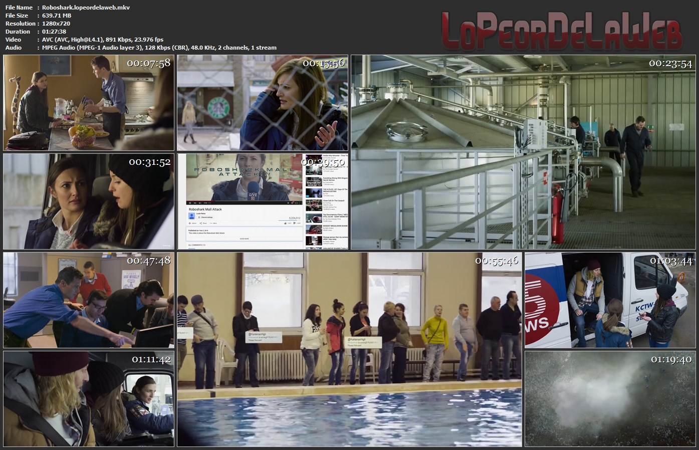 Roboshark 720p Latino (2015) [Mega]