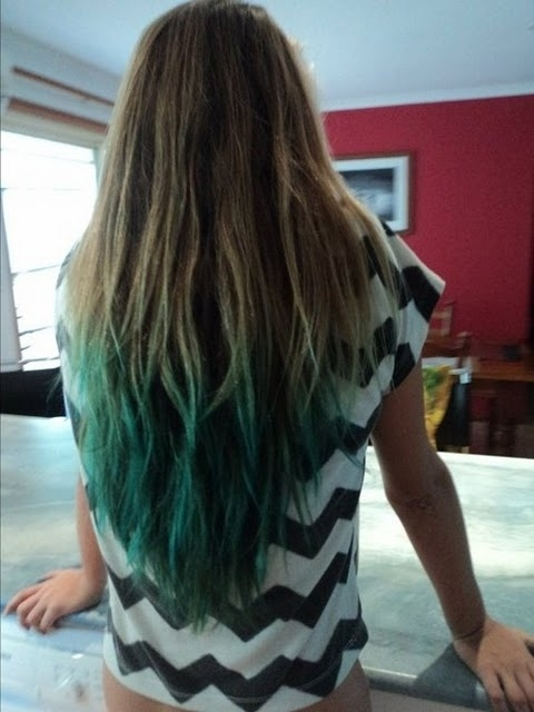 dipped dyed hair. Dip Dyed Hair