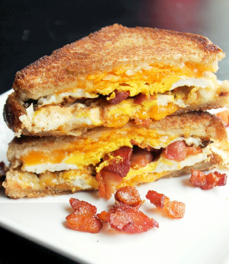 Creole Contessa: Bacon, Egg, and Cheese Grilled Cheese Sandwich