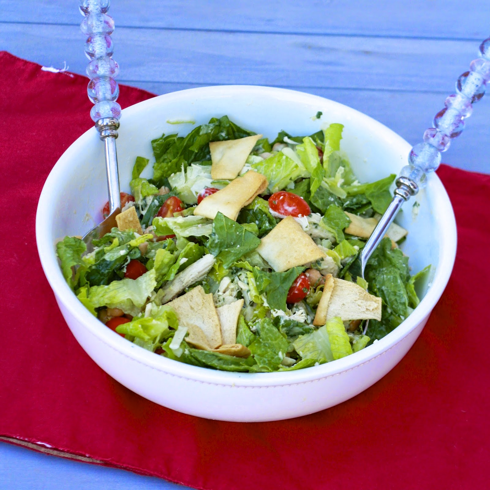 Chicken Chopped Salad with Avocado Dressing | The Sweets Life